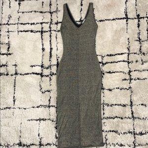 Metallic Green Bodycon Dress